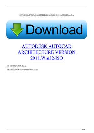 Download AUTODESK AUTOCAD ARCHITECTURE V2012 WIN32-ISO